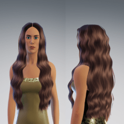 wavy hair brown collor