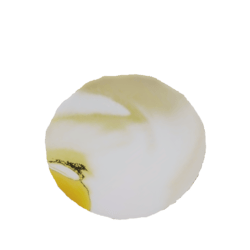 baked egg sculpted