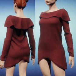 Snoodie Dress or Top -Red