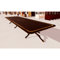Long Dining Wooden Table With Inlays 01