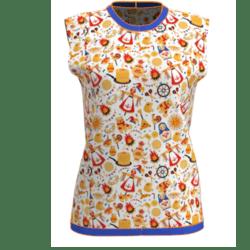 New Festival Blue Sleeveless T-shirt