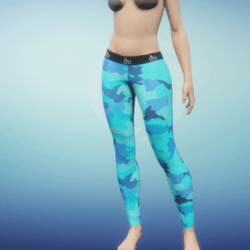Leggings Camo blue