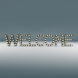 Welcome Marquee Blinking Sign