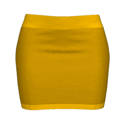 Woman Simple Skirt - Orange