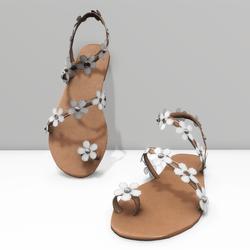 Ring toe sandals for Alina avatar - white