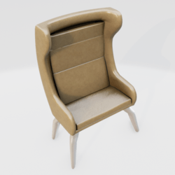 Modern Wingback Chair Beige