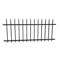 Wrought Iron Fence - 3m Section