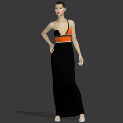 "Gilda black orange ""Elisea Carter"""