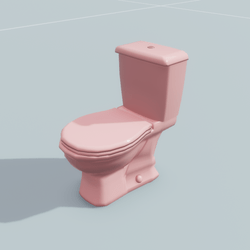 Toilet Pink
