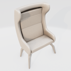 Modern Wingback Chair White