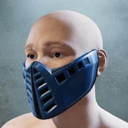 Dark Baby Blue and Black Mask
