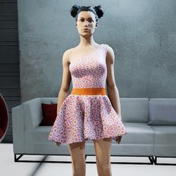 CASSOU mini dress pink