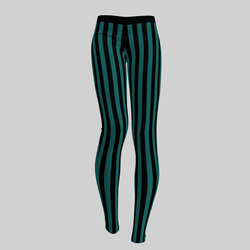 Leggings Maddy Stripes Black & Emerald 2.0