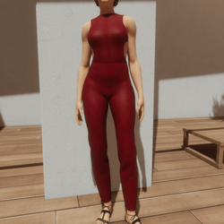 TKA-Jumpsuit red leather