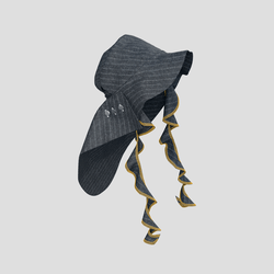 Trailblazing Hat chalk gray stripe