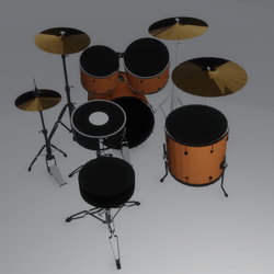 Drum Set - playable