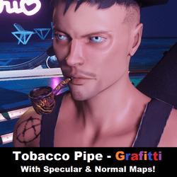 Tobacco Pipe - Grafitti