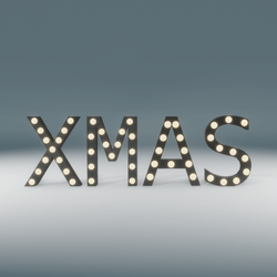 Xmas Marquee Blinking Sign