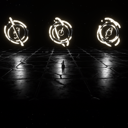 ANIMATED PSY CIRCLE - ENVIRONMENT DECORATION