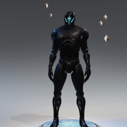 Avatar Mannequin black with emissive Male