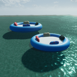 ANIMATED FLOATING WATER TUBES - BEACH FUN(2 sizes)