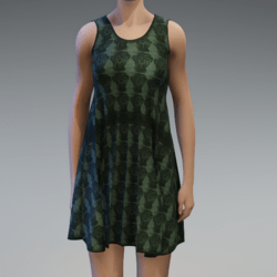 Sleeveless dress - khaki
