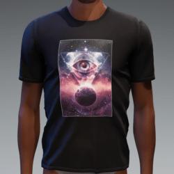 Tshirt with Glowing Animated Mystical Eye (unisex)