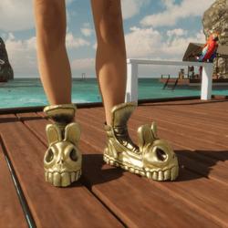 Bunny Skull Sneaker Pure Gold
