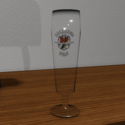 Empty Pils glas