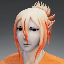 Mukuro hair orange