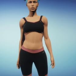 Black n Red Athletic Outfit