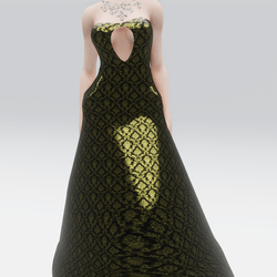 Royal Golden Gown