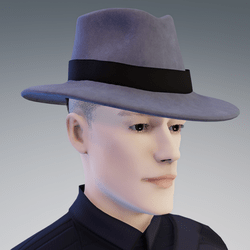 Stylish Grey Fedora Hat