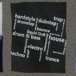 edm genres wall poster