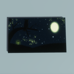 Night Of The Fireflies Painting