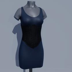 Corset Dress - Blueberry