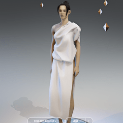Elegant Greek Dress - Female