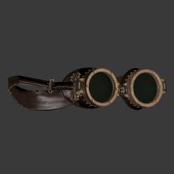 Loki Brass Goggles - Male Fit