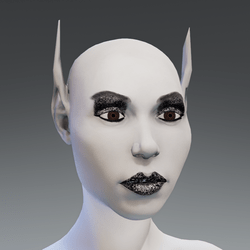 Elf Avatar with Silver Make Up