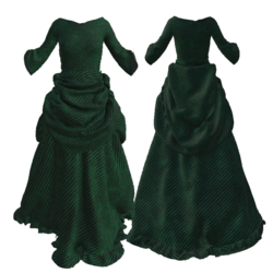 Victorian Christmas green robe