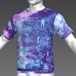 Ready Player One: Schematic T-Shirt Variant (Tiedye) (M)