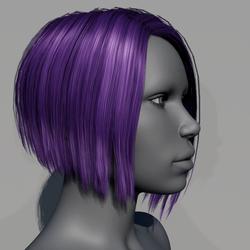 Hair - Asymmetrical Bob - Purple