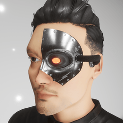 robotic eye replacement mask