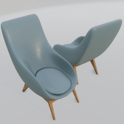Oyster Lounge Chair Blue