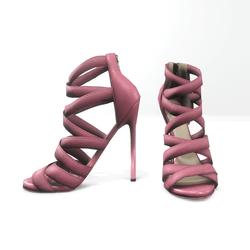 Strappy stiletto sandals for nicci - pink