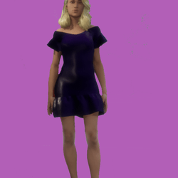 Lois Casual Violet Short Dress