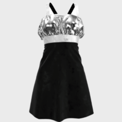Ladies Mini Raffle Evening Dress (Sliver)