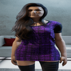 Purple & Black Shirt Dress