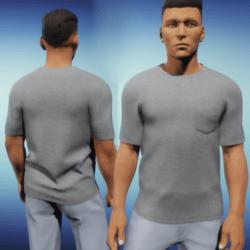 Mens One Pocket Tee - Grey