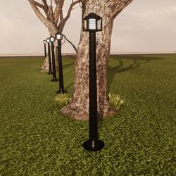 GARDEN OUTDOOR LAMP( straight support columns)